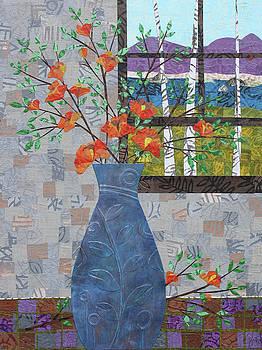 Orange Blooms by Janyce Boynton