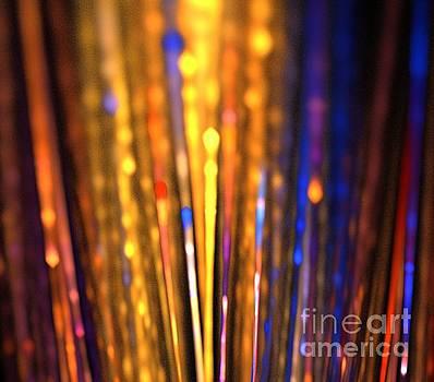 Orange Blue Embers by Kim Sy Ok