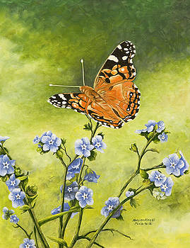 Orange Butterfly by Mary Ann King