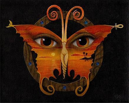 Orange butterfly by Will Crane