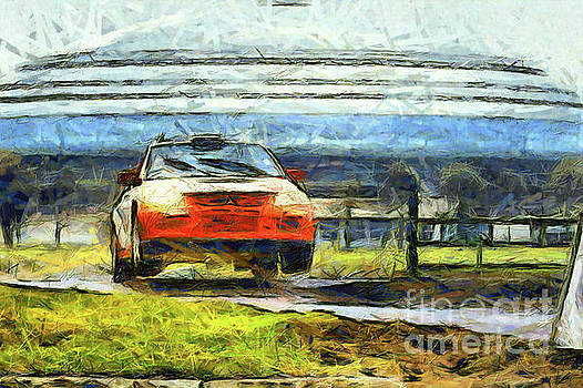 Orange car jump by Magomed Magomedagaev