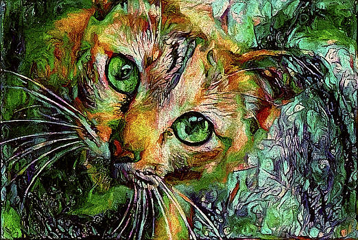 Peggy Collins - Orange Cat - Green Eyes