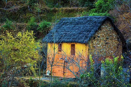Orange Cottage by Kumud Parajuli