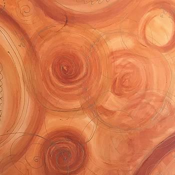 Orange Delight Abstract Art by Brenda Boss by Brenda Boss