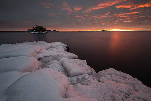 Orange February Sunrise by Jakub Sisak