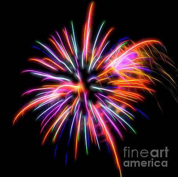 Orange Fireworks by Yulia Kazansky