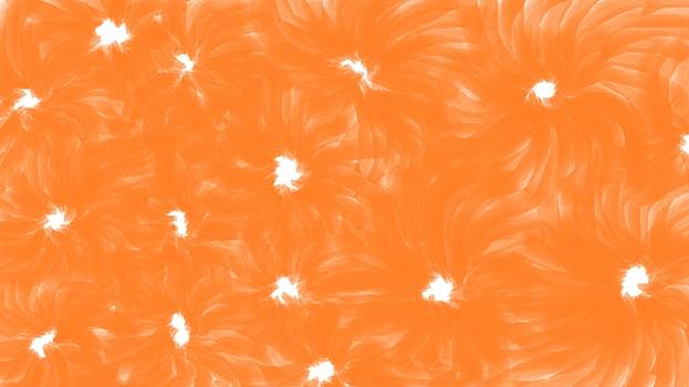 Orange Flower Abstract by Linda Velasquez