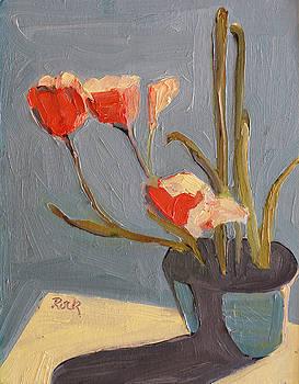 Orange Flowers by Leslie Rock