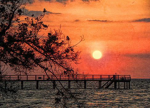 Orange Grunge Sunset by Rosalie Scanlon