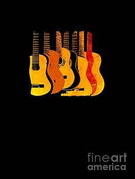 Orange Guitars T-Shirt by Sharon K Shubert