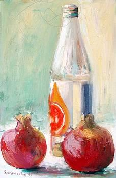 Orange juice bottle by George Siaba