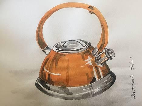 Orange kettle by John Ostrowick