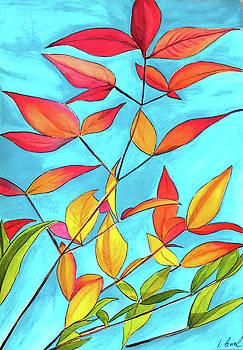 Orange Leaves by Sacha Grossel