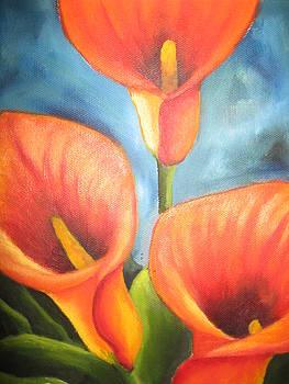 Orange lilies by Antoinette Marlow