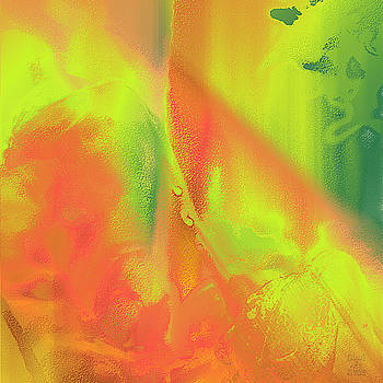 Dee Flouton - Orange Lime Green Abstract