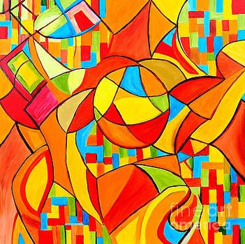 Orange Mayhem by Art by Danielle