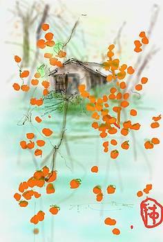 Orange morning by Debbi Saccomanno Chan