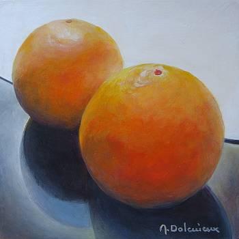 Orange Noir et Blanc by Muriel Dolemieux