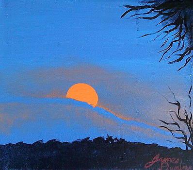 Orange Of Blue Mist Sunset by Portland Art Creations