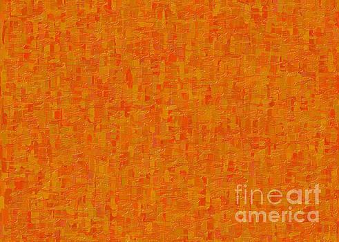 Omaste Witkowski - Orange Origins Abstract Organic Art by Omaste Witkowski