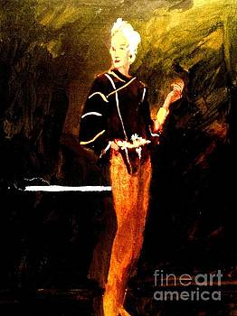 Orange Pants  by Harry WEISBURD