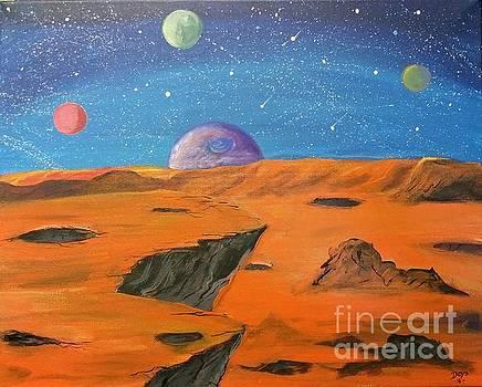 Orange Planet by Deyanira Harris