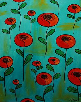 Orange Poppies by Emily Page