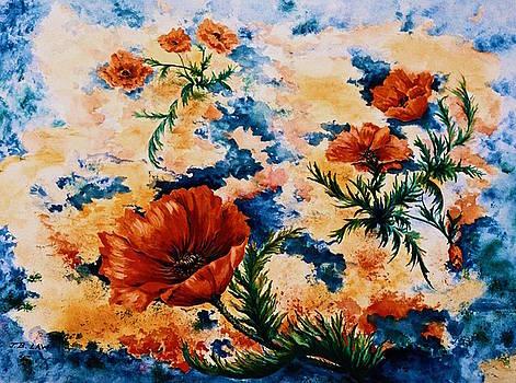 Orange Poppies by Jan Law