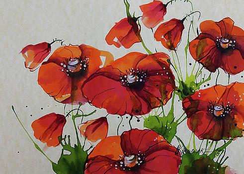 Orange Poppies by Khromykh Natalia