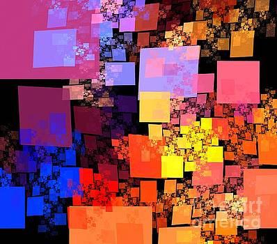 Orange Red Cubes by Kim Sy Ok