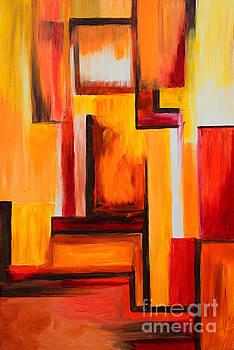Orange Reflections by Art by Danielle