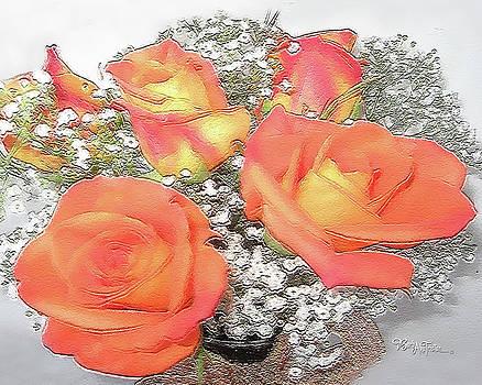Orange Roses #067 by Barbara Tristan