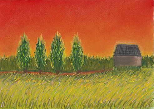 Joe Michelli - Orange Sky landscape