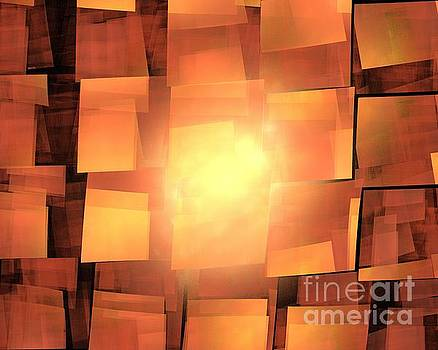 Orange Solar Cubea by Kim Sy Ok