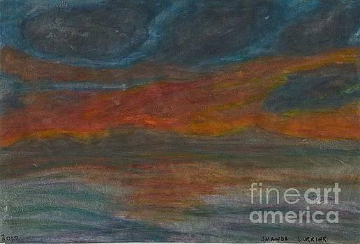 Orange Sunset by Amanda Currier