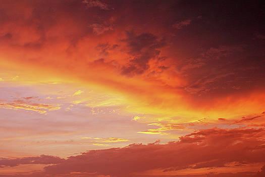 orange Sunset by Iuliia Malivanchuk by Iuliia Malivanchuk