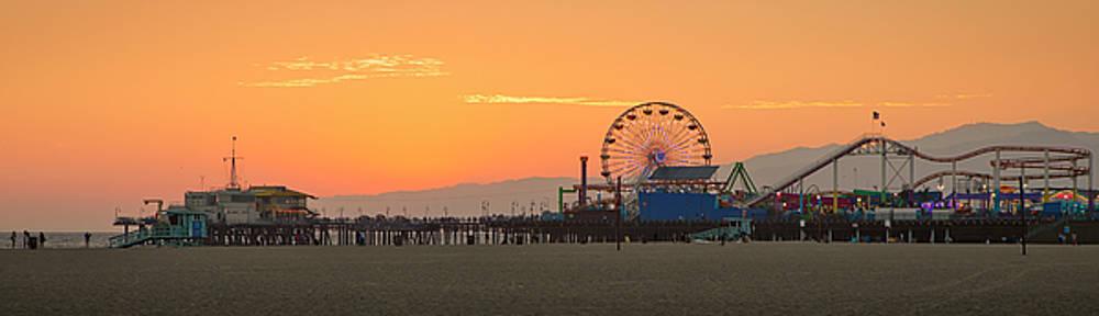 Orange Sunset - Panorama by Gene Parks