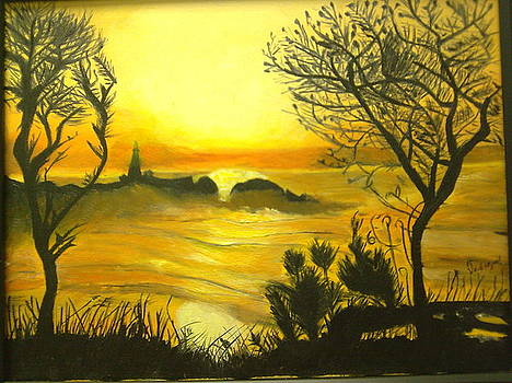Orange Sunset by Helen Vanterpool