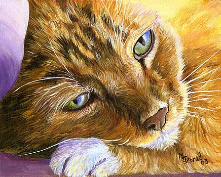 Mary Jo Zorad - Orange Tabby Cat Framed Print