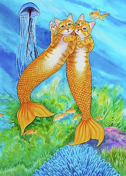 Orange Tabby Mercats by Rachel Armington