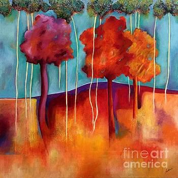 Orange Trees by Elizabeth Fontaine-Barr