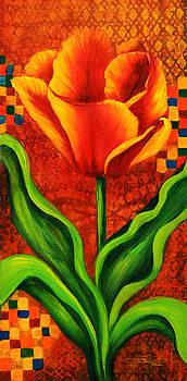 Orange Tulip by Lynn Lawson Pajunen