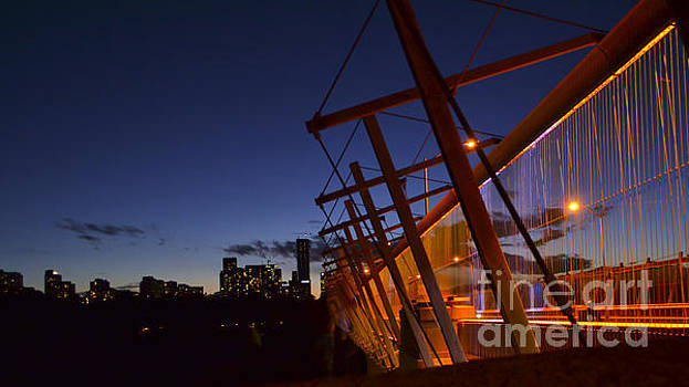Orange Veil over Toronto by Alana Boltwood
