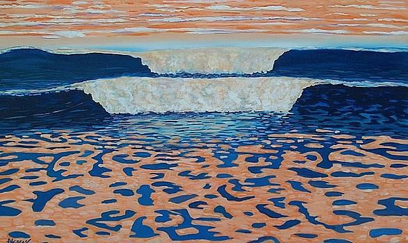 Orange Waves by Enrique Alcaraz