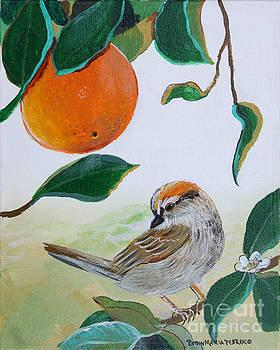 Orange Zest Bird Painting by Robin Maria Pedrero