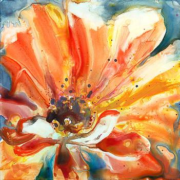 Orange Zinnia by Yevgenia Watts