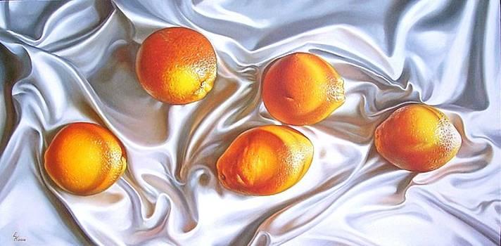 Oranges 2 by Elena Kolotusha