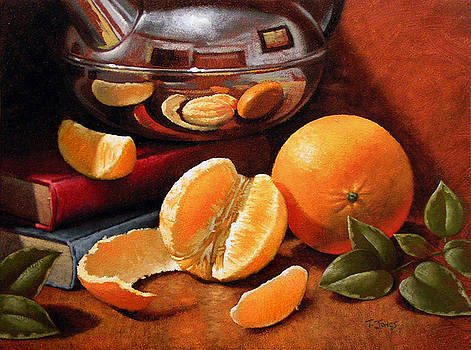Oranges and Teapot by Timothy Jones