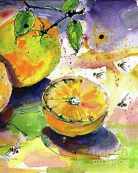 Ginette Callaway - Oranges Fruit 2 Watercolor Paintings