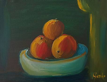 Oranges in a Bowl  by Steve Jorde